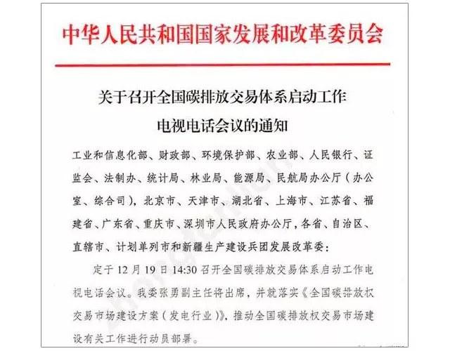 Emission trading system china