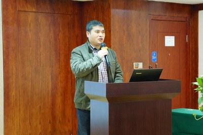 2015年12月22日-23日,遂宁种子教师培训,遂宁市教育局副局长祝宗山先生致辞