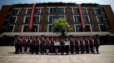 2016年5月11日上午,教材试点学校推广,南京市金陵中学仙林分校小学部教材试点班级合影