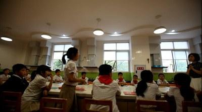 2016年5月13日上午,教材试点学校推广,重庆市人民(融侨)小学教材课堂《寻找厨房里的霾星人》